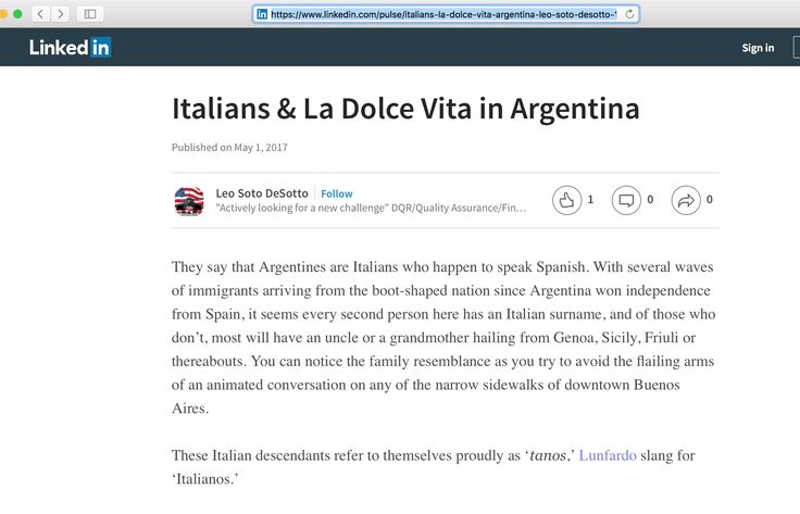 This genius, Leo Soto DeSotto thought he would copy a whole article from Wander Argentina on his LinkedIn profile. Che genius, I'm sure plagiarizing a whole article will help you land a job!