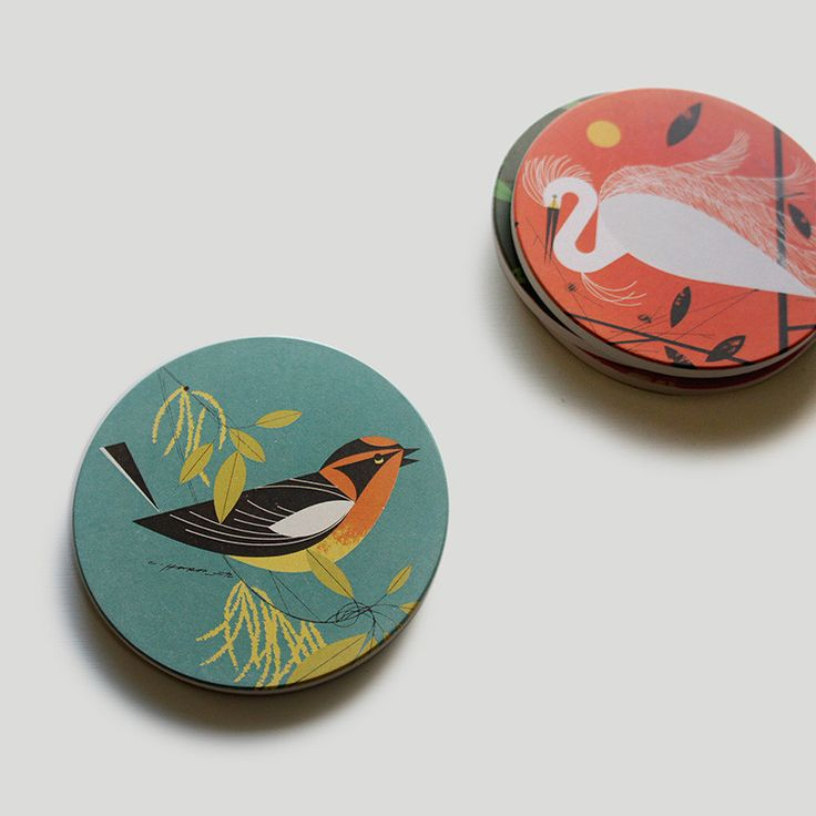 Charley Harper Feathered Friends Coaster Set