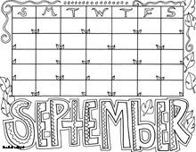 september coloring page - Free September Coloring Pages