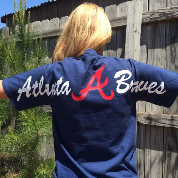 Must have! So affordable! Spirit jersey style! Atlanta Braves SHORT SLEEVE  Comfort Colors Monogrammed Tee on Etsy, $26.99