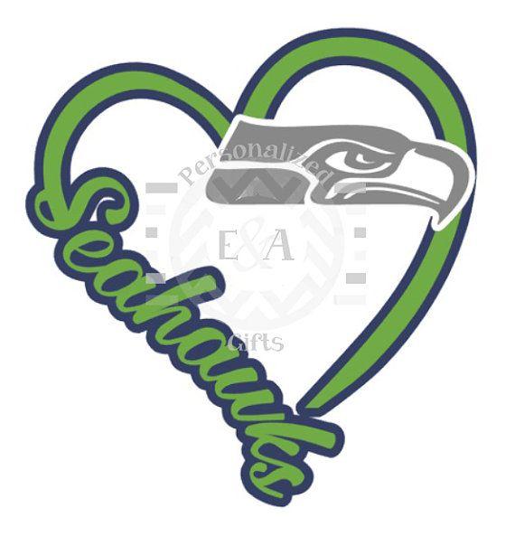 I Heart Seattle window decal Seahawks by EAPersonalizedGifts