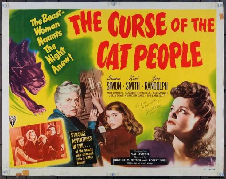 1942 Film.    An American man marries a Serbian immigrant who fears that she will turn into the cat person of her homeland's fables if they are intimate together.  Director: Jacques Tourneur Stars: Simone Simon, Tom Conway, Kent Smith