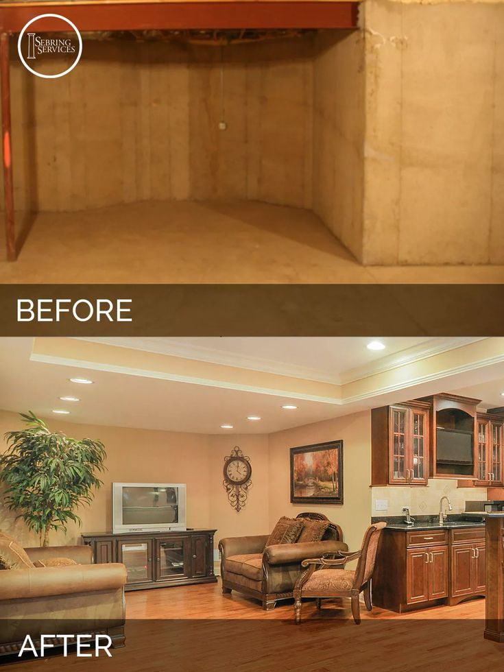 Basement Design Services basment entertainment Before And After Basement Remodeling Sebring Services