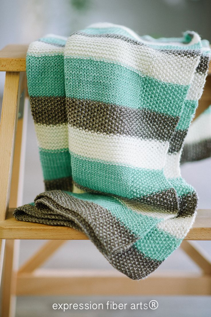 How to Knit a Baby Blanket! Expression Fiber Arts A