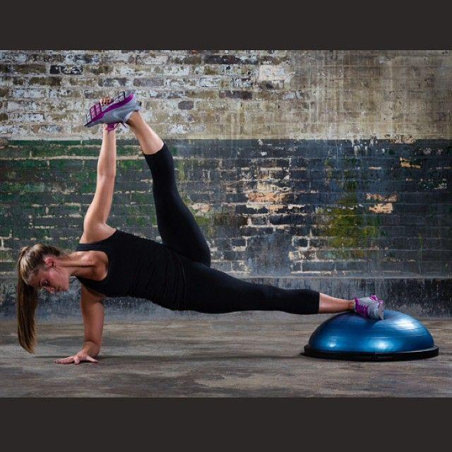 Bosu Ball Side Plank: Instagram Photo By @jess1thomas (Jessica Thomas