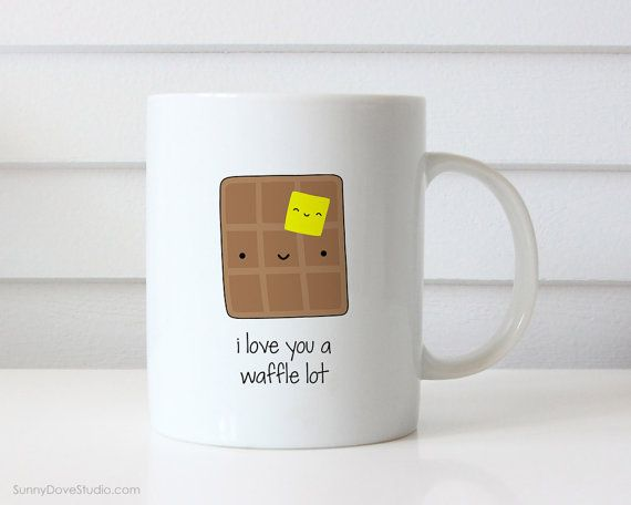 Funny Mug Valentine For Boyfriend Girlfriend Husband Wife Valentines Day Gift Love Waffle Lot Pun Anniversary Birthday Gifts Mugs Her Him  I Love You A Waffle Lot. This cute mug is a fun way to tell your boyfriend, girlfriend, husband, wife, that special someone in your life just how much they mean to you!  Perfect for Valentines Day, celebrating your anniversary or wishing the one you love a happy birthday, this funny mug makes a sweet companion to any daily coffee routine.  Design is…