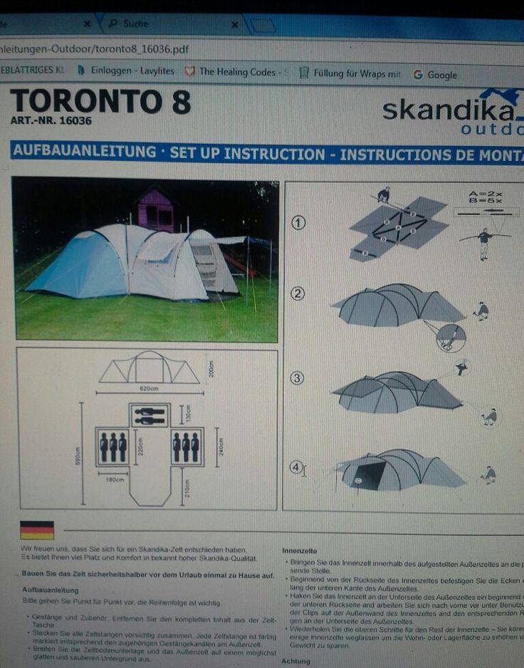 Skandika uni Toronto 8 Personen Zelt