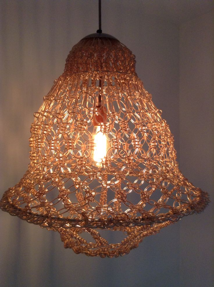 Wire chandelier copper pendant lamp, created by Wonderwire.