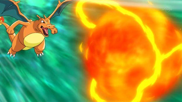 Charizard ataque lanzallamas