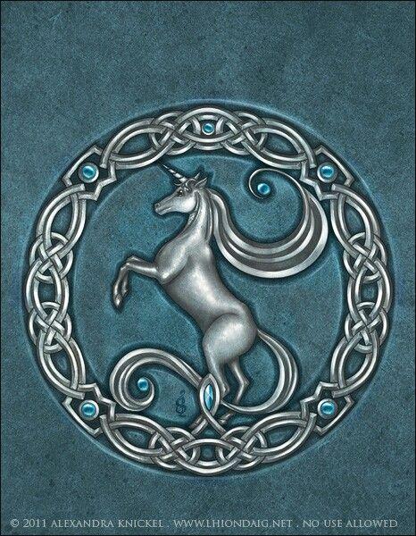HQ165Celtic unicorn