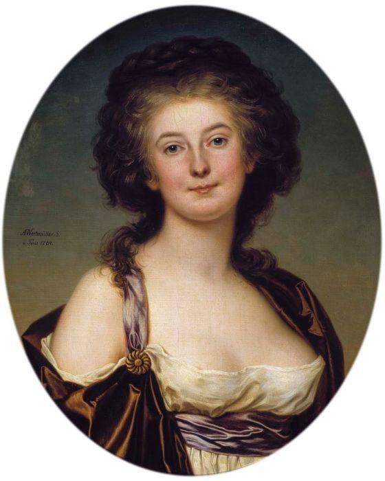 """Artist: Adolf Ulrik Wertmüller (1751–1811) Title: Portrait of Mademoiselle Mademoiselle Charlotte Eckerman. (1759-1790), Swedish opera singer and actress Date 1784 Medium oil on canvas Dimensions 65 × 54 cm (25.6 × 21.3 in) Current location: Sinebrychoff Art Museum, Finland."""
