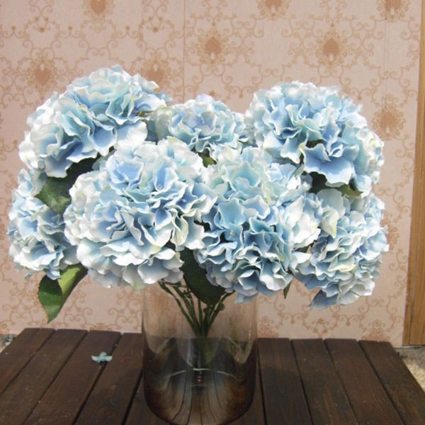 1 Bunch Artificial Silk Flower Bouquet Wedding Party Home Decoration Floral Hydrangea Flores Artificiales-in Decorative Flowers & Wreaths from Home & Garden on Aliexpress.com | Alibaba Group