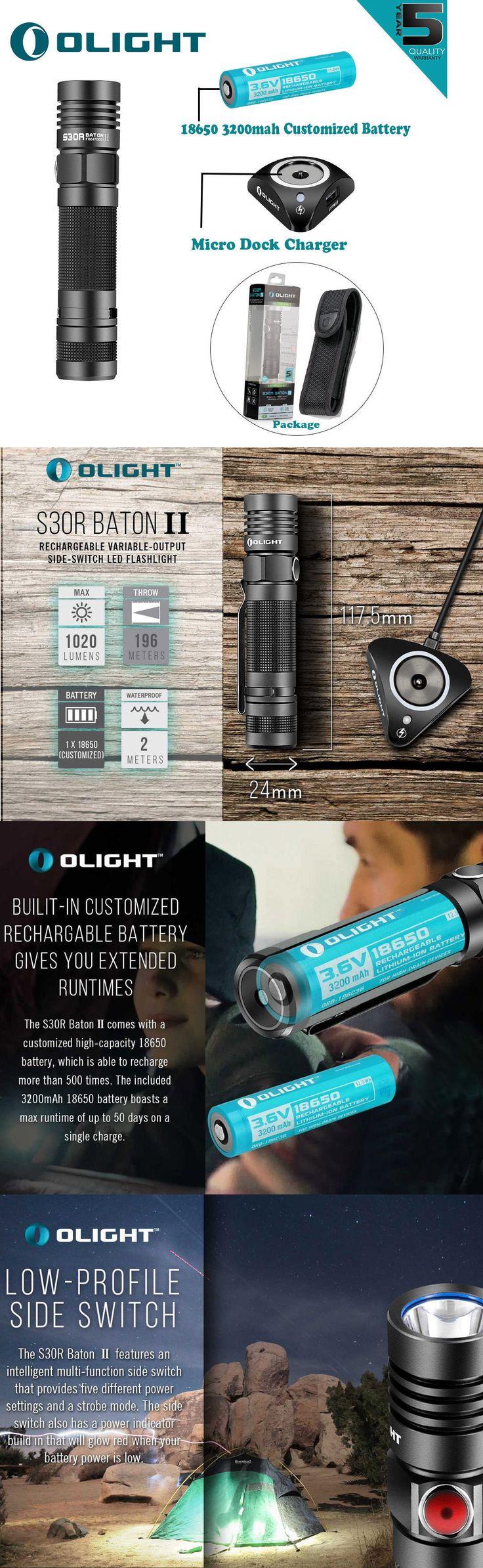 Flashlights 16037: Olight S30r Ii Baton 3200Mah 1020Lm Rechargeable Led Flashlight W 18650 Battery -> BUY IT NOW ONLY: $67.95 on eBay!