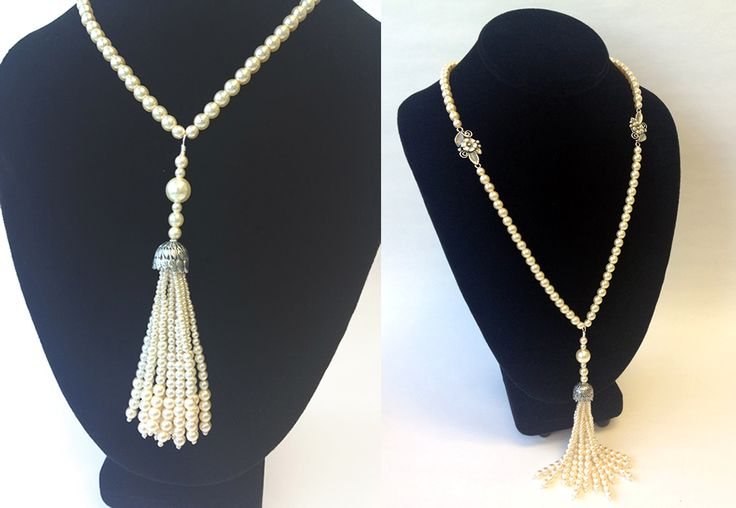 Great Gatsby Inspired Pearl Tassel Necklace Bling It On