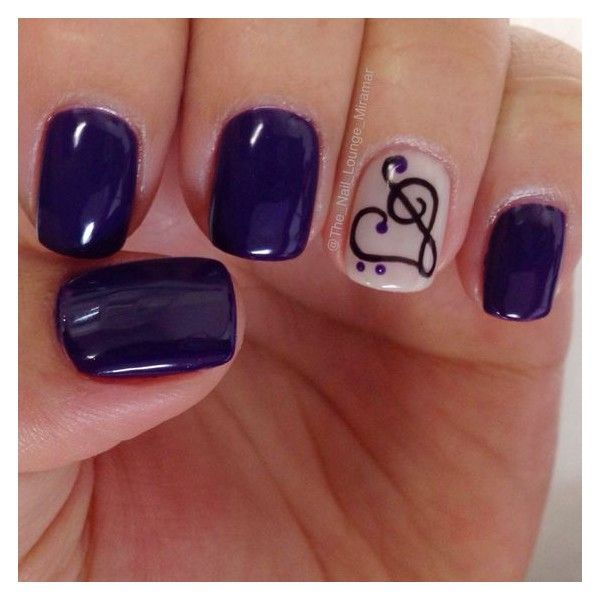 Heart Music note gel nail art design @the_nail_lounge_miramar ❤ liked on Polyvore featuring beauty products, nail care, nail treatments and gel nail care