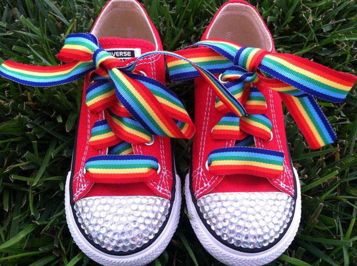 RAINBOW BLING SHOES - Rainbow Brite costume - Rainbow Party - Rainbow Birthday - Clown Party - Clown Costume - Infant/youth size by SparkleToes3 on Etsy https://www.etsy.com/listing/163013036/rainbow-bling-shoes-rainbow-brite