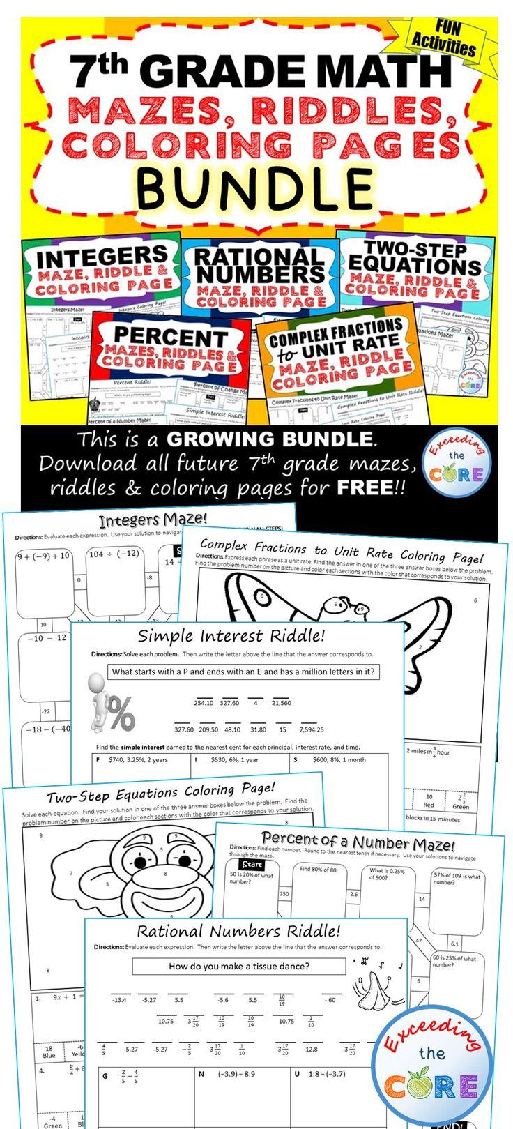 190 best 7th Grade Math COMMON CORE images on Pinterest ...