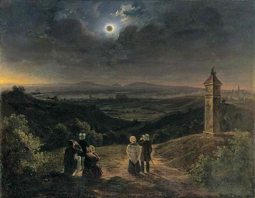 Jakob Alt, Die Sonnenfinsternis am 8. Juli 1842