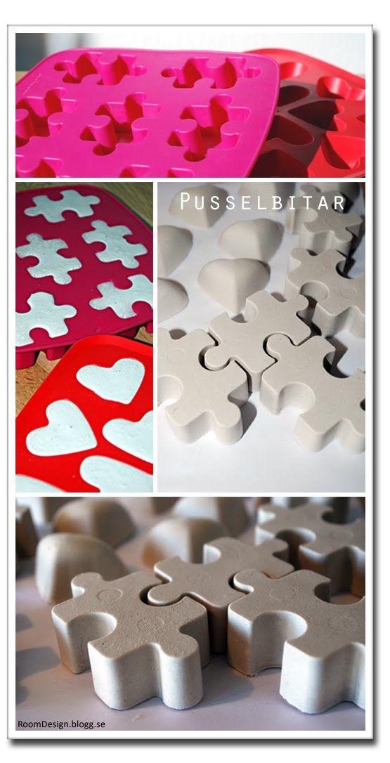 Diy: Ideas decorativas con cubiteras y yeso : x4duros.com