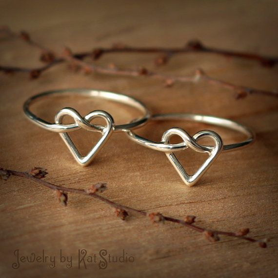 Hey, I found this really awesome Etsy listing at http://www.etsy.com/ru/listing/130904715/2-infinity-heart-rings-set-of-two-heart