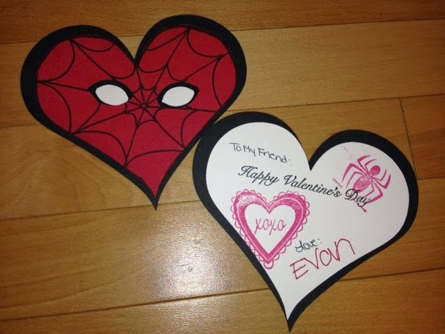 DYI Spiderman Valentines Day Card My Crafts Pinterest