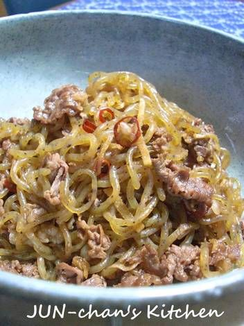 Braised Konyaku Thread Noodles and Beef with Ginger