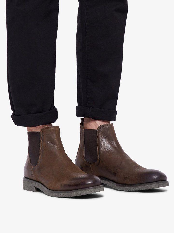 349f053fa4a1 Bianco Herren Chelsea Boots für 109,99€. Obermaterial aus Leder, Runde  Zehenpartie