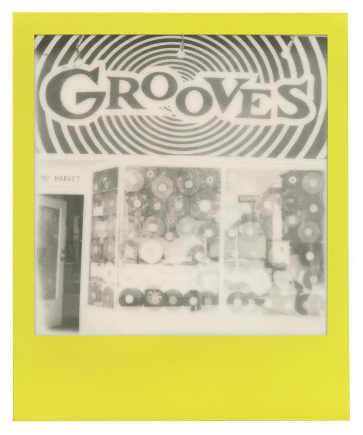 Polaroid 600 film: Grooves Records on Market Street in San Francisco