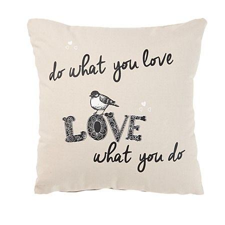 Habito Cushion Do What You Love 43cm x 43cm - Cushions & Throws - Living Room - Homewares - The Warehouse