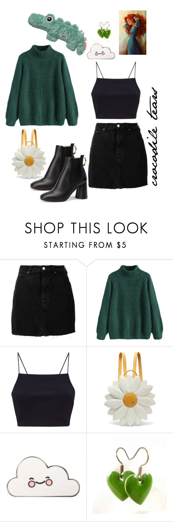 """Crocodile tears"" by actuallyariel ❤ liked on Polyvore featuring IRO and Charlotte Olympia"