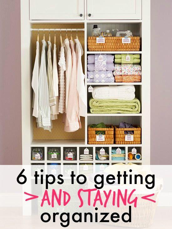 6 Tips For Getting Organized Via Organized