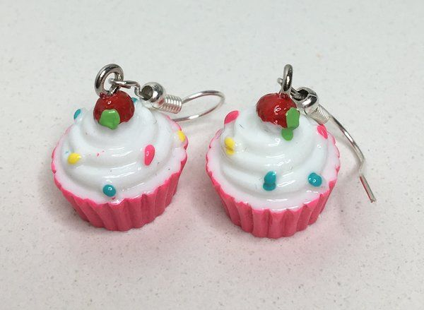 8.99$ Pink Cupcake Earrings | Motivational Fitness Jewelry - Miss Fit Boutique