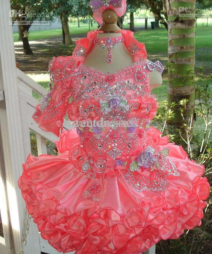New Arrival 2013 Hot Sale Cute Little Girls Cupcake Pageant Halter Organza Girls Party Dresses TU467