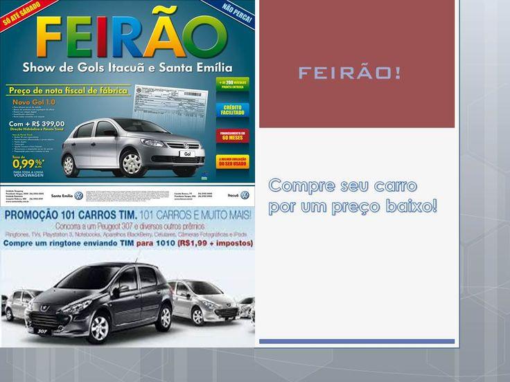 Página sobre venda de carros -parte 1