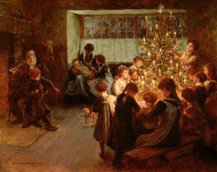 The Christmas Tree, 1911, Albert Chevallier Tayler:
