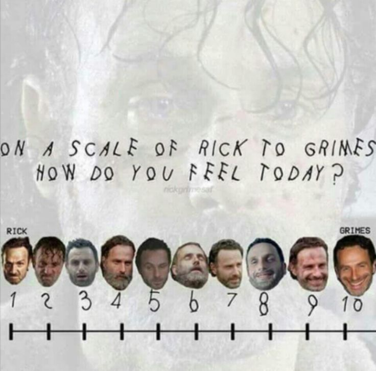 The Walking Dead ..On a scale of Rick to Grimes how do you feel today? #TWD #LOL #RICKmfGRIMES