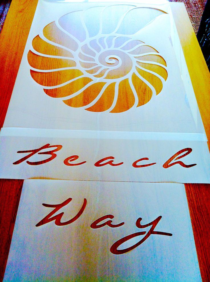 Beach Wat custom logo stencil - www.createcuts.com