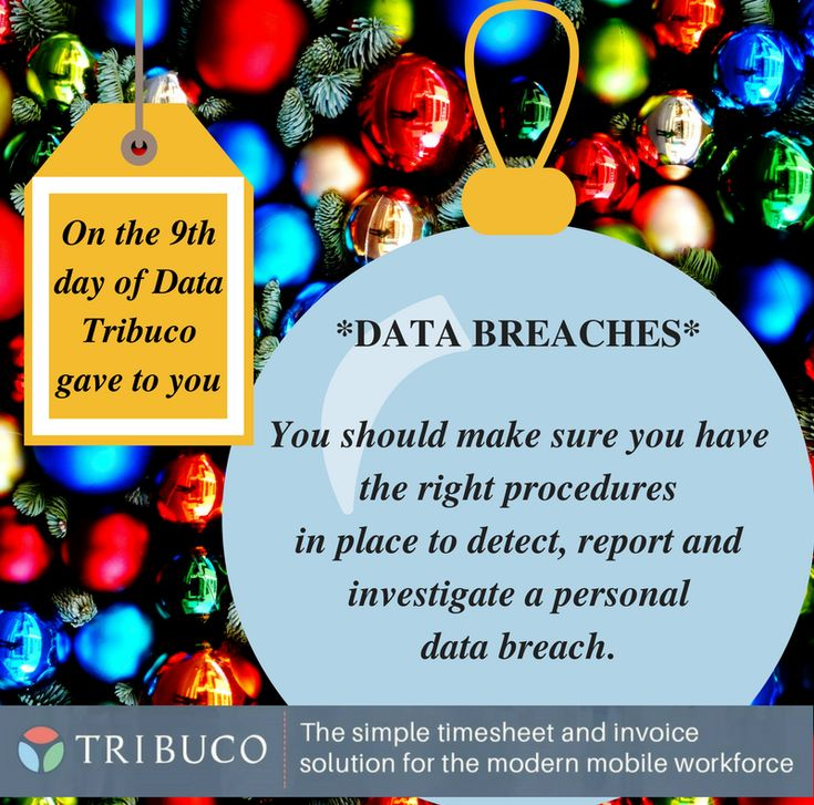 on the 9th day of GDPR Tribuco gave to you   #recruitment #payroll #gdpr #business #timemanagement #timesheet #invoice #accounting