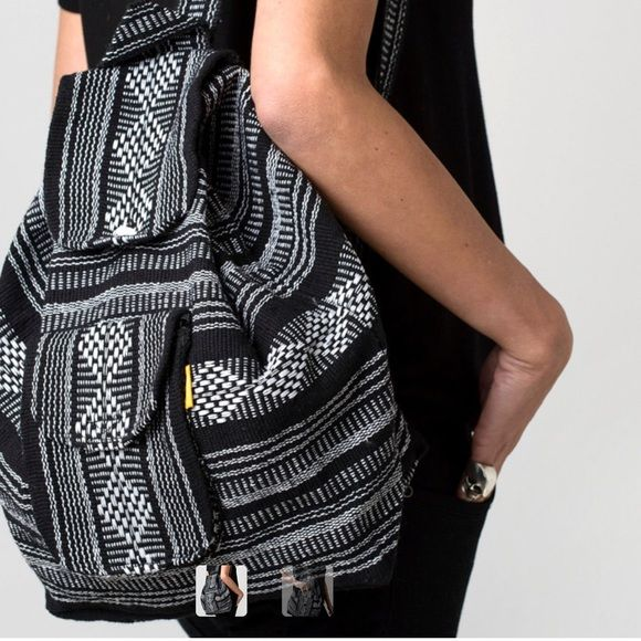 Mexican Hand woven backpack Item Details BEAUTIFUL HANDMADE ARTISIAN BACKPACK, MADE IN MEXICO. COTTON BLEND MADE IN OAXACA/ MEXICO. Available in brown, navy blue and grey. Urban Outfitters Bags Backpacks