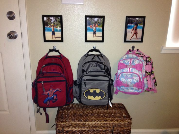 A Neat and Tidy Entry Closet - Just a Girl and Her Blog. Photo frame backpack hooks & Backpack hooks for home - Active Sale