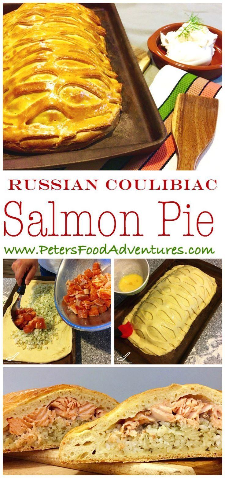Salmon kulebyaka or coulibiac recipe salmon for Fish and rice recipes