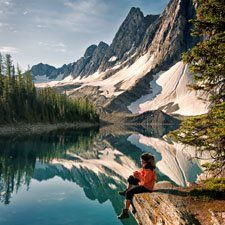 A guide to hiking trails in British Columbia, Canada Pictured: Floe Lake, Kootenay National Park (David Gluns photo)