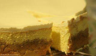 Sernik (cheesecake) z mango i wiórkami kokosowymi