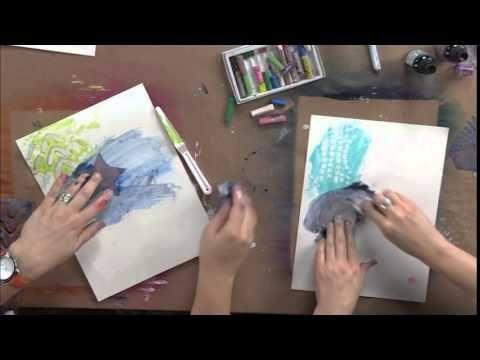 Art Journaling: Stencil and Masking with Dina Wakley | InterweaveStore.com