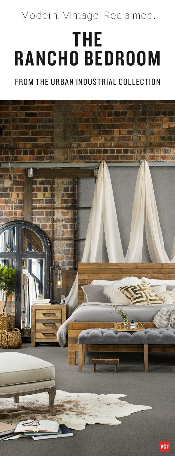 25 best ideas about urban industrial on pinterest urban - Industrial style bedroom furniture ...