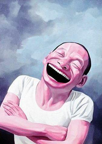 Yue, Minjun - Self portrait - Cynical Realism - Oil on canvas - Self Portrait