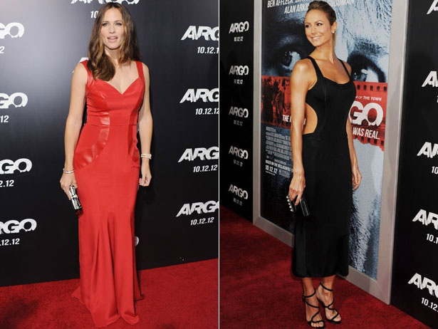 From the front: Jennifer Garner and Stacy Keibler at the Argo premiere.