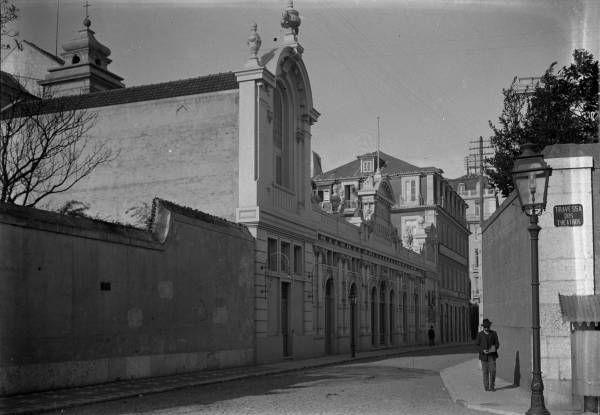 O Chiado Terrasse na Rua António Maria Cardoso em 1911 (Foto: Joshua Benoliel, Arquivo Municipal de Lisboa)