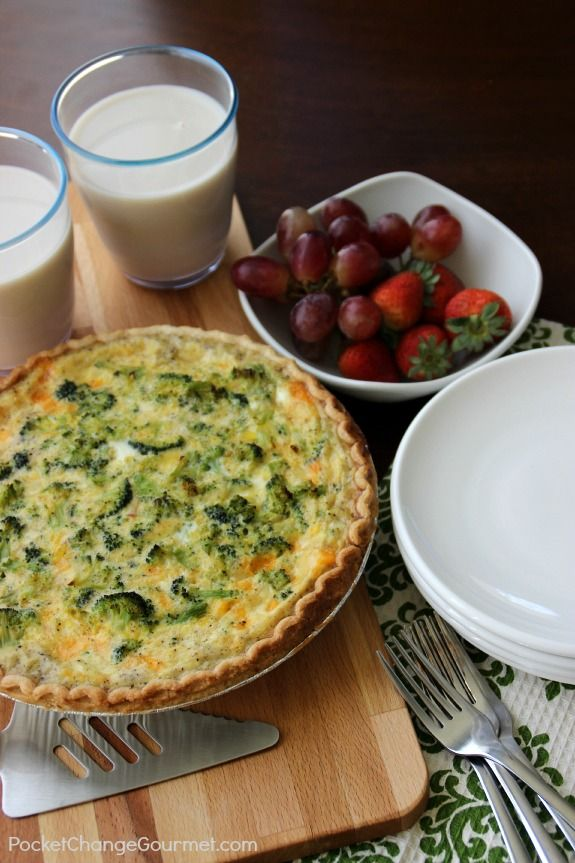 Ham and Broccoli Quiche | Pocket Change Gourmet