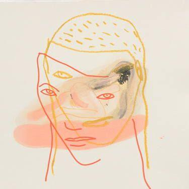"Saatchi Art Artist monica carrozzoni; Drawing, ""selfie"" #art"